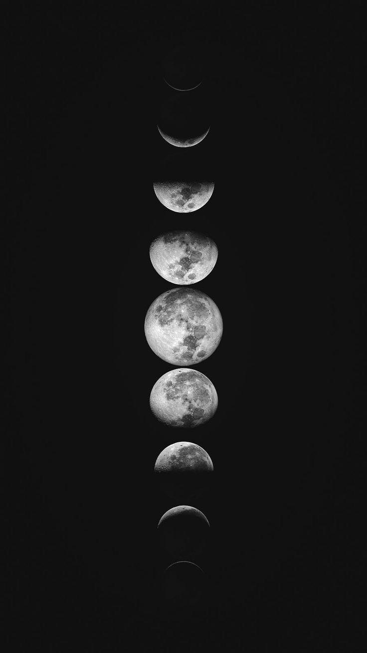 Moon Mobile Wallpaper Dark Wallpaper Iphone Wallpaper Moon Black Phone Wallpaper