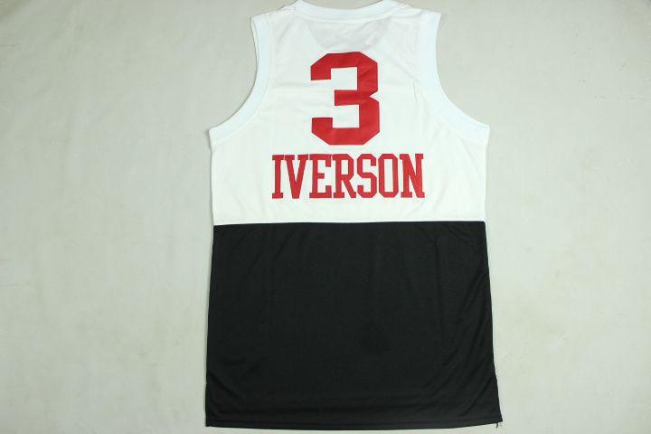 Allen Iverson half white half black without logo Rev30 Jersey ... 8e1ac3d6b