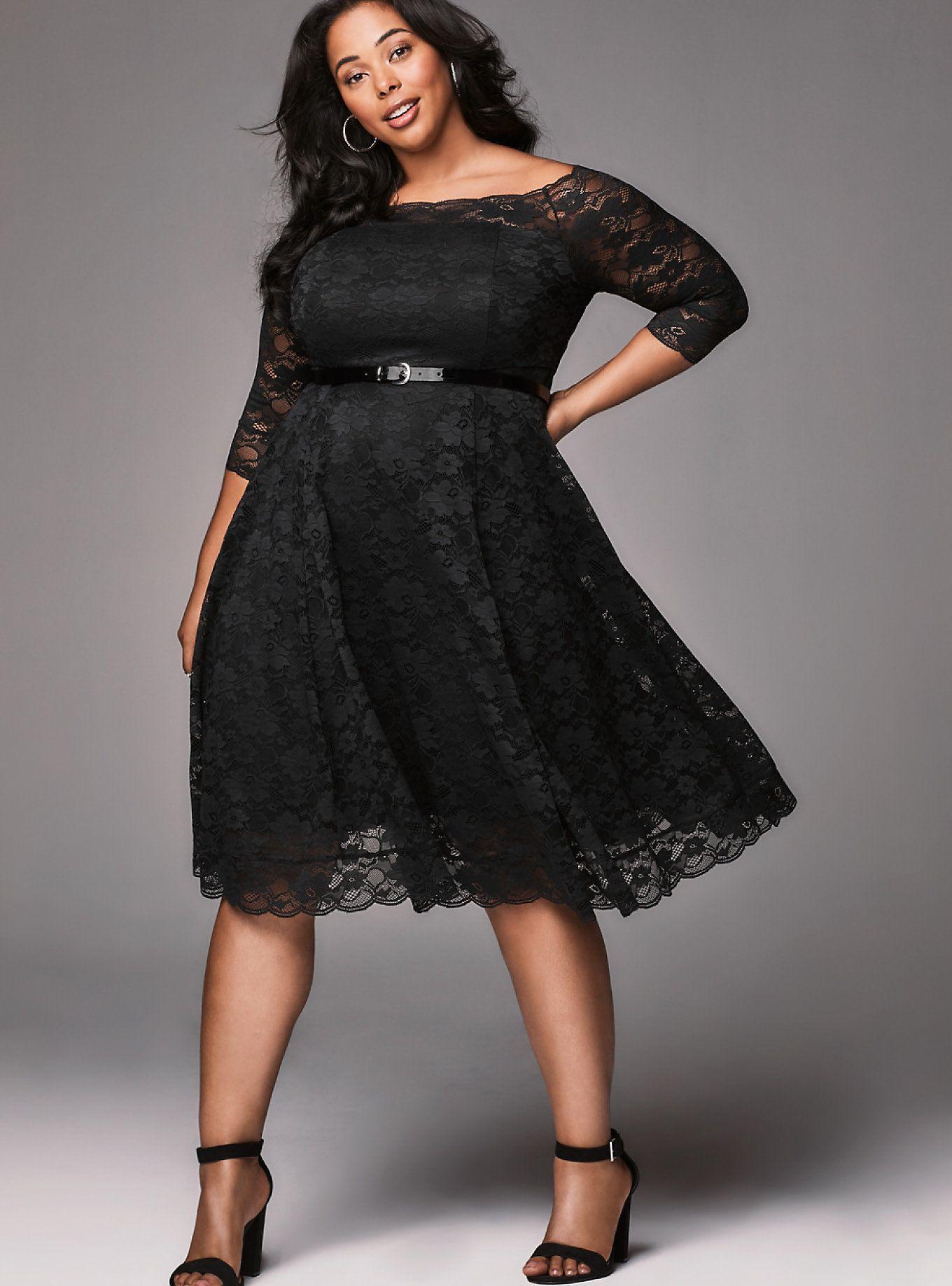 Look 24 in 2020   Plus size party dresses, Dresses, Lace tea ...
