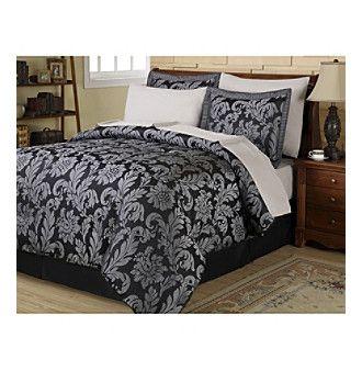 Product Berkley 8 Pc Comforter Set By Central Park Kohls Bedding Sets Bedding Sets Damask Bedding