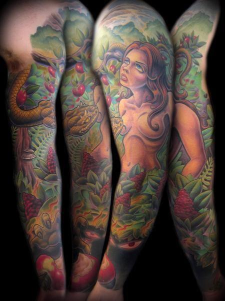 10 tatuajes inspirados en el mito de adam y eva 7