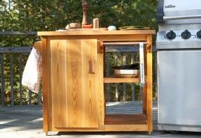 Diy Bbq Prep Station With Instructions Pdf Attachment Built In Bbq Diy Outdoor Kitchen Diy Bbq