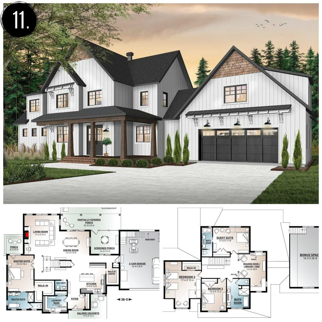 10 Amazing Modern Farmhouse Floor Plans Farmhousefloorplan Modern Farmhouse Floorplan Modern Farmhouse Floors Modern Farmhouse Plans