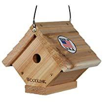Woodlink Traditional Wren House Natural Cedar Bird House