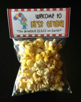 Meet the Teacher Night Goodie Bag Tags! (CircusThemed!) #meettheteachernight