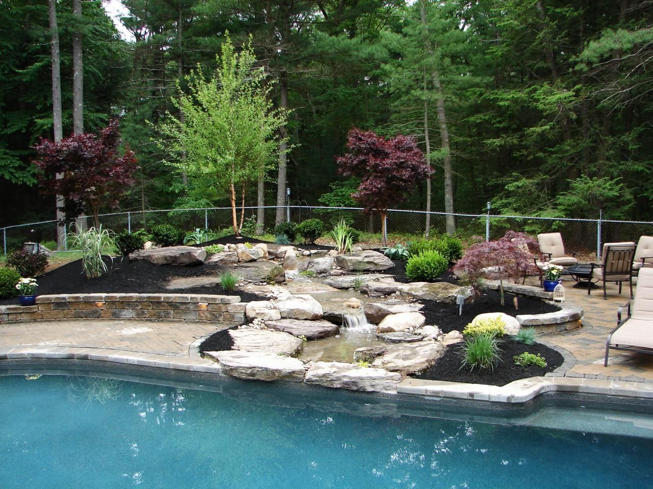 outdoor water features prefab pool house water features and