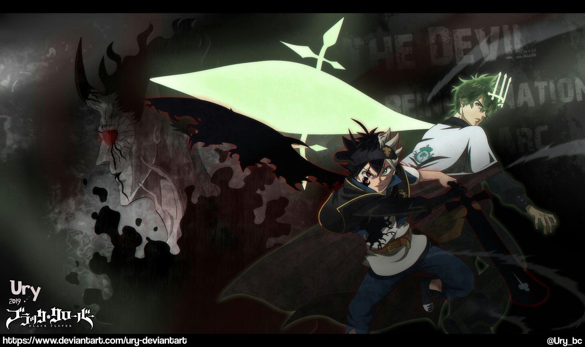 Asta E Yuno Black Clover Art By Ury Black Clover Anime Digital Artist Artist