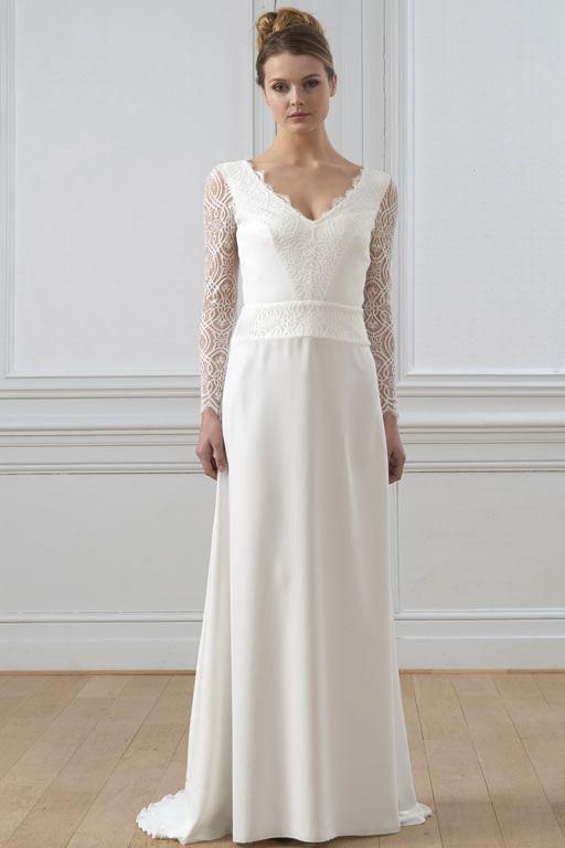 Robe de mariée Lambert Créations Versailles | Robe de mariee, Idées vestimentaires, Robe