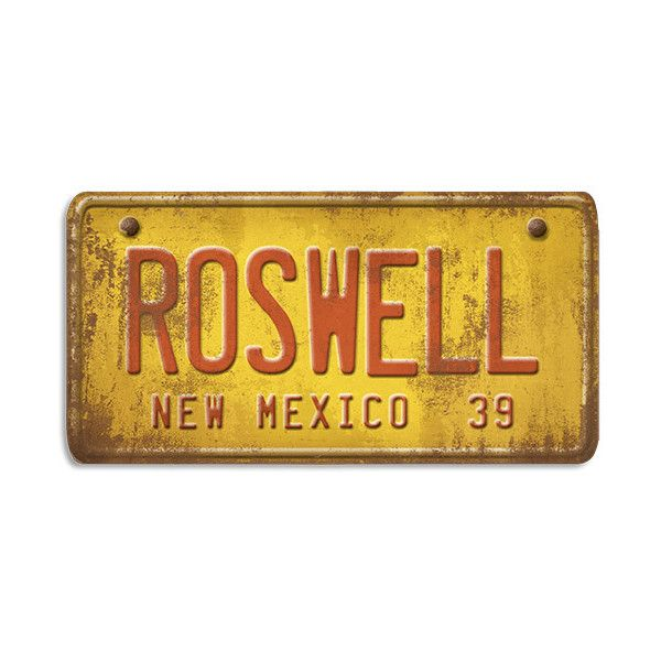 New Mexico Roswell License Plate Wood Art ($79) ❤ liked on Polyvore ...