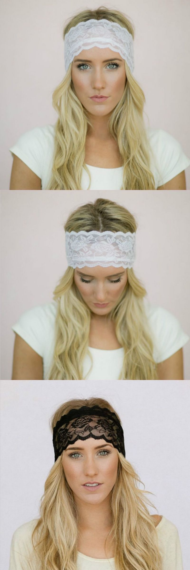 Girl Women Lace Headband Retro Hair Band Wide Head wraps Hair Accessories