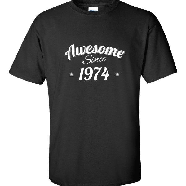 Awesome Since 1974 Very Cool Birthday Anniversary Gift  Unisex Tshirt  Available At Find A Funny Gift's Online Store:  CLICK HERE => http://ift.tt/1HZK5eb <=  #FindAFunnyGift  is a Clothing Brand and your source for the Perfect Funny Gift!  We care about Quality : We only use the latest state-of-the-art #DTG Printing Techniques over High Quality Apparel to deliver Products You LOVE To Gift or Wear!  www.findafunny.gift #gift #funnygift #clothing #cool #apparel #menswear #womenswear #t-shirt…