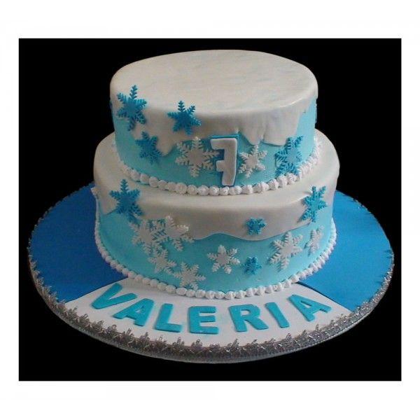 Pastel con decoraciones de frozen pasteles infantiles for Decoracion de tortas infantiles