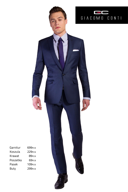 Propozycja Biznesowa Giacomo Conti Z Granatowym Garniturem Marcus1 E13 19b Giacomoconti Suits Jackets Suit Jacket