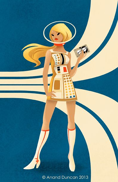 The Vault Of The Atomic Space Age Retro Illustration