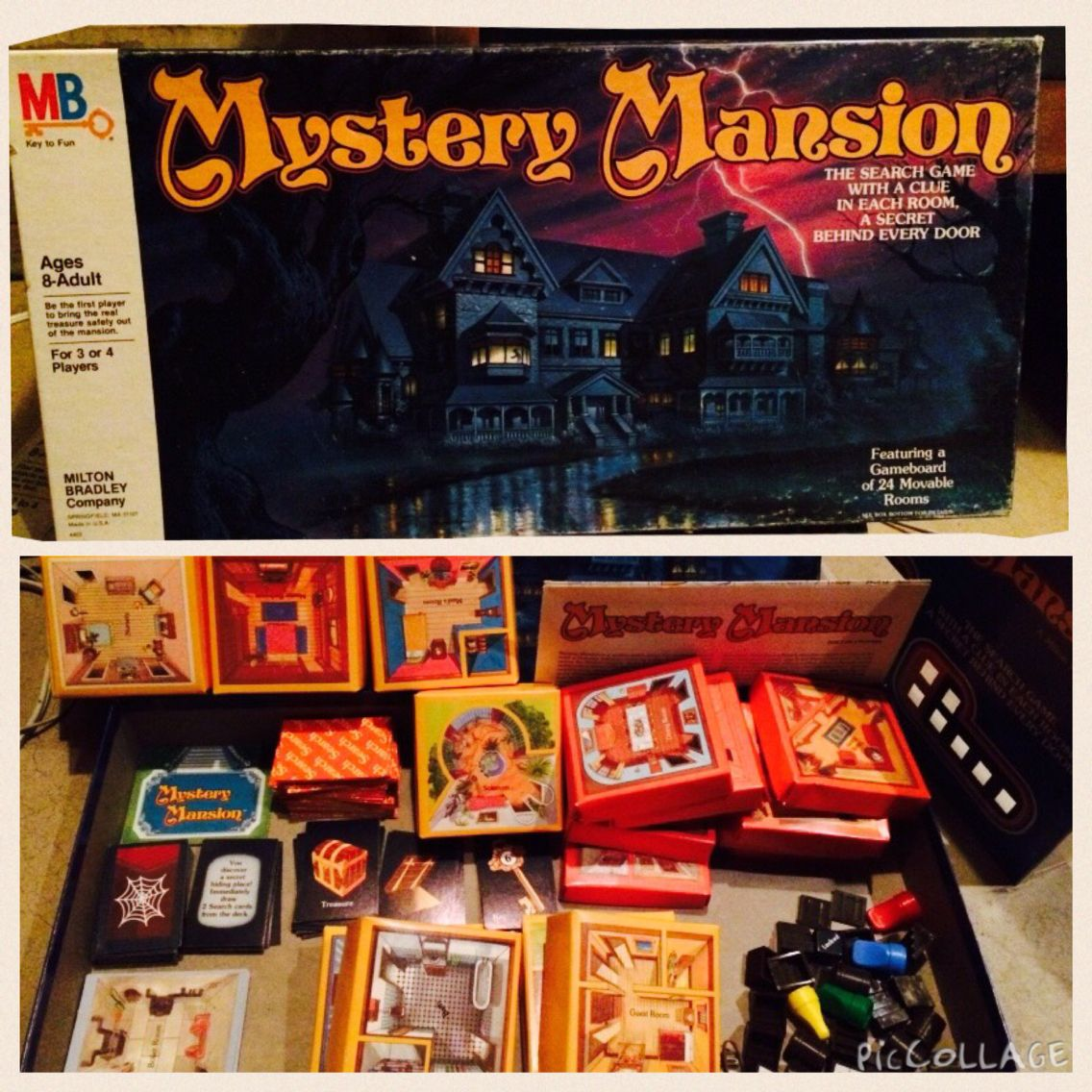 80's Board Game Mystery Mansion Spooky games, Board games