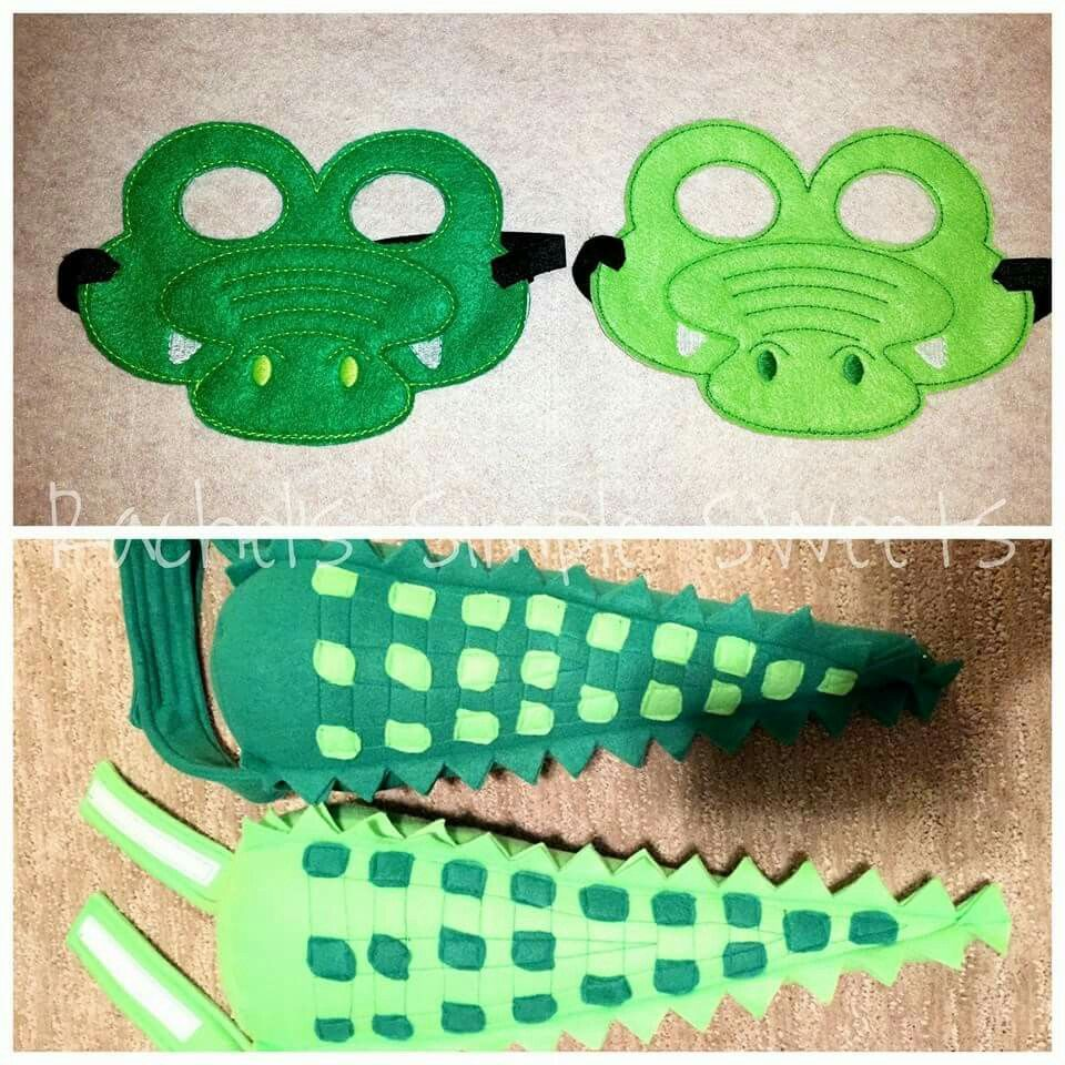crocodile tails and masks pretend play fasching. Black Bedroom Furniture Sets. Home Design Ideas