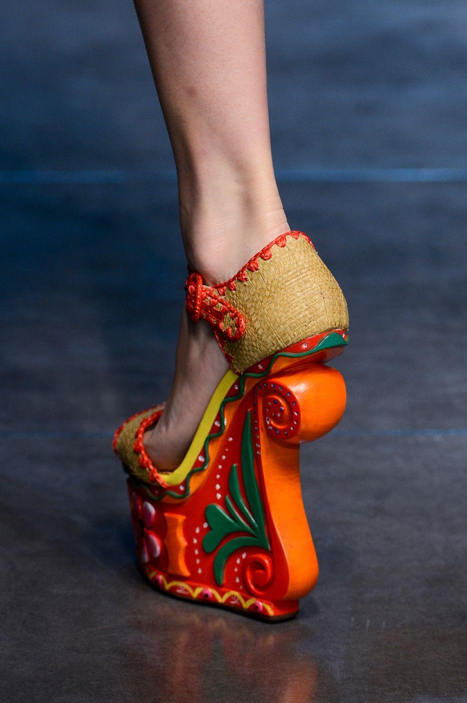 Dolce & Gabbana Spring 2013 Ready-to-Wear Detail | Shoes ... Дольче Габбана Обувь 2013