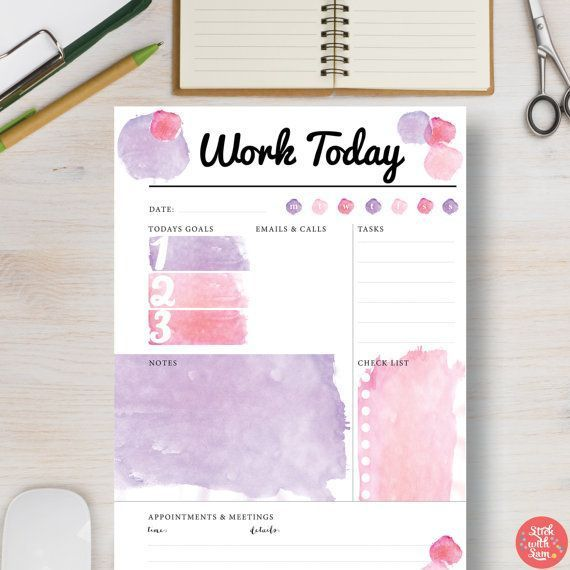 Printable To Do Aqua Floral Stationery 535A4 A5 Letter SizeInstant DownloadChecklist PlannerDaily Task PlannerPrintable To Do Template