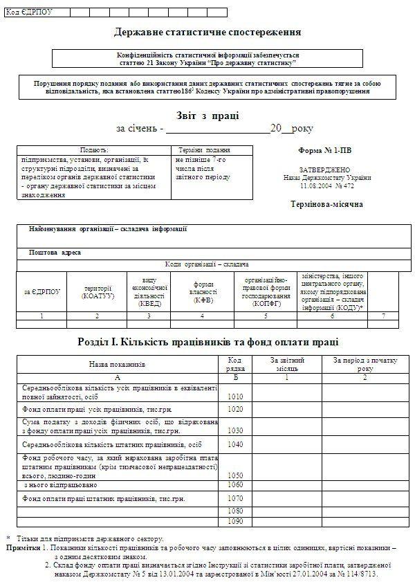 Инструкции по статистике заработной платы