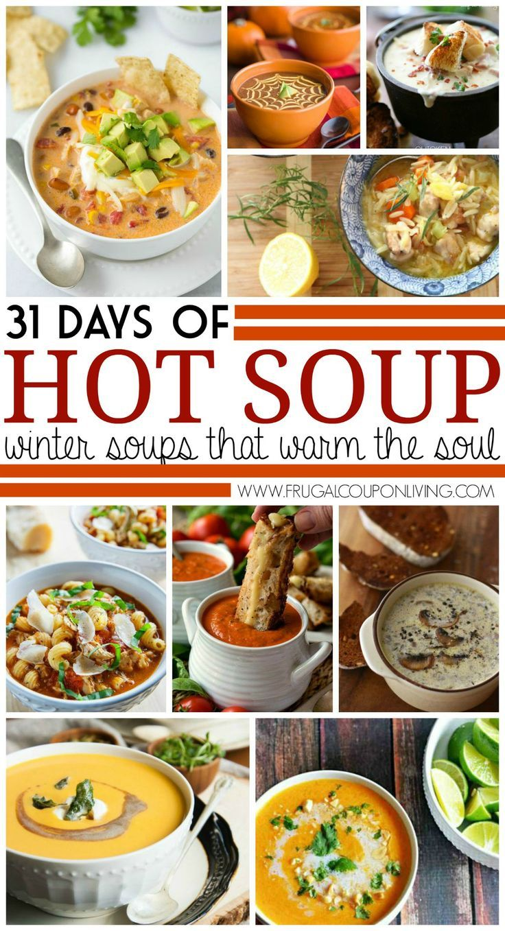 31 Days of Fall and Winter Soups on Frugal Coupon Living plus Gourmet Grilled Cheese Recipes.