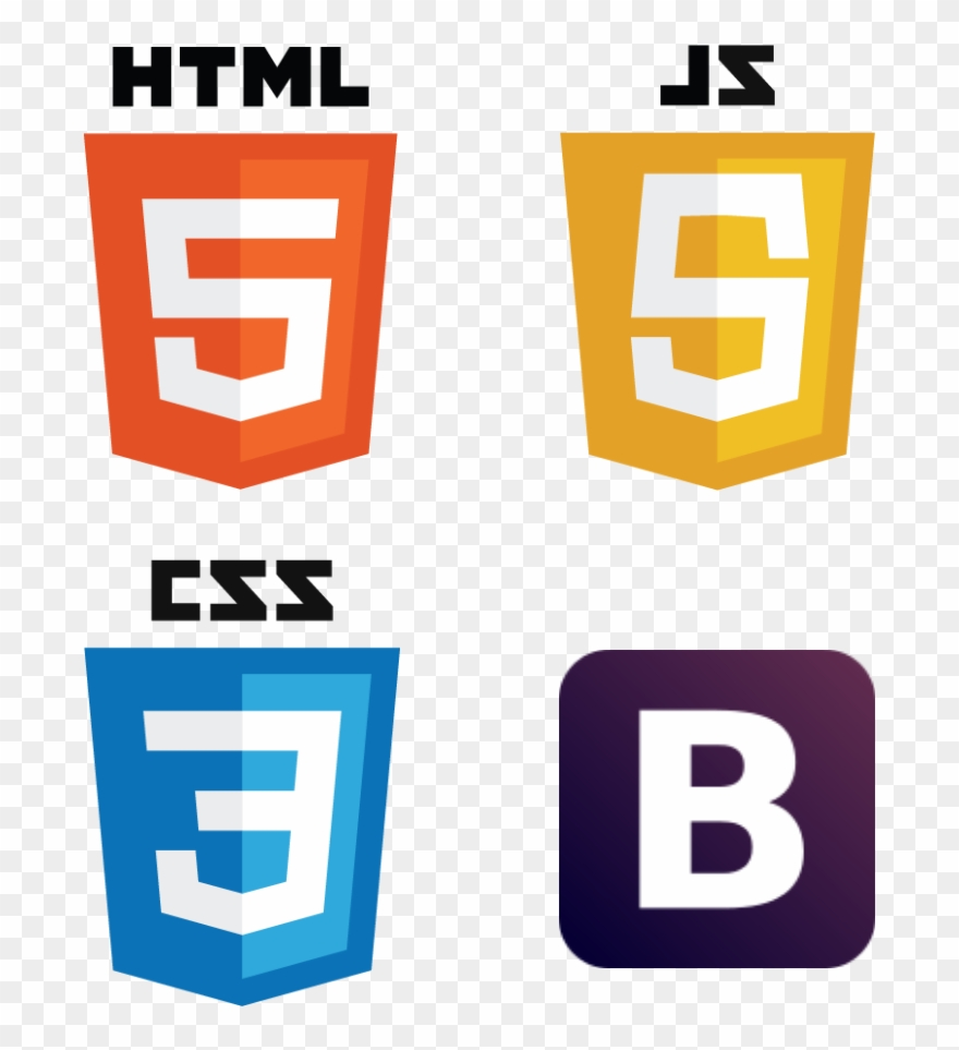 Vector Javascript Html5 Css3 Html Css Javascript Bootstrap Clipart 1133296 Is A Creative Clipart Download The Transparent Cl Html Css Html5 Css3 Clip Art