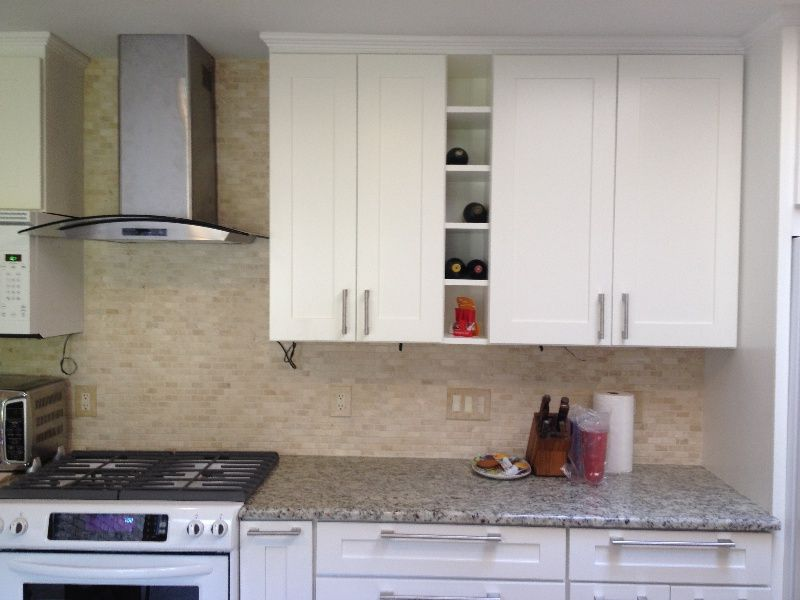 CENTEX Mayland White Shaker Kitchen Cabinet Pictures
