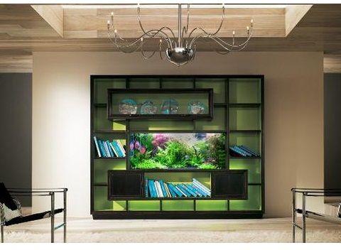 Estanter a acuarios pinterest estanter as acuario y libreros - Peceras de diseno ...