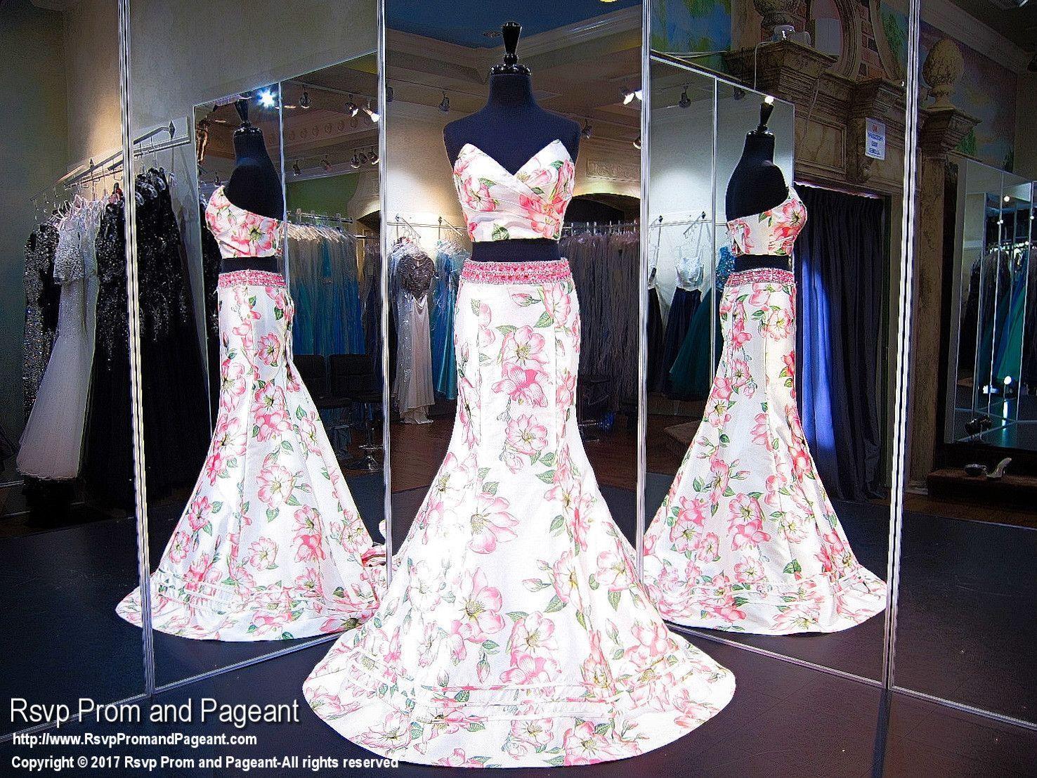 White floral mermaid prom dress pink dresses pinterest prom