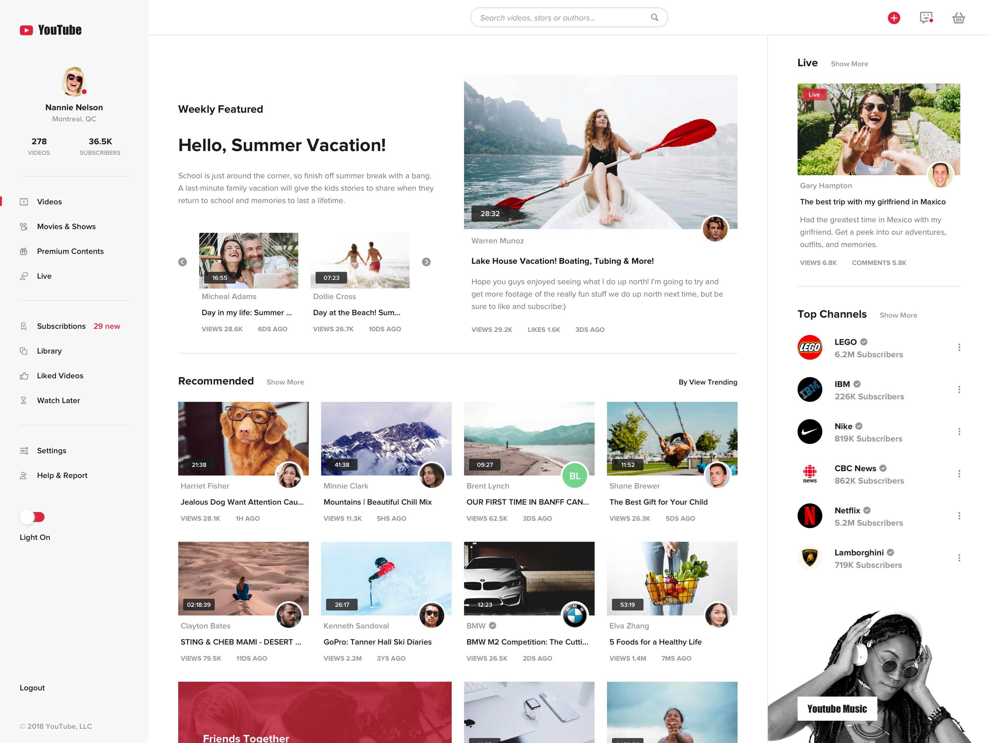 Real Pixel News Web Design Youtube Design Concept Design