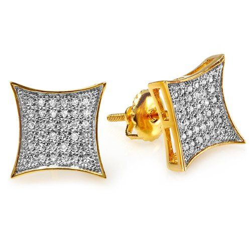 0 20 Carat ctw 18K Yellow Gold Plated Sterling Silver White Real