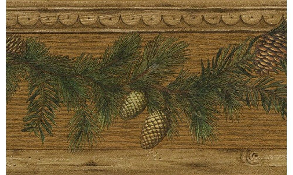 Brown pine cone wood 51672920 wallpaper border pine cone for Pinecone wallpaper