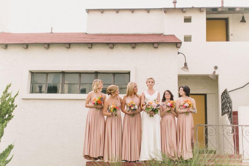 photographer: N. Barrett Photography // venue: First Presbyterian Church of Dallas // florist: Bows & Arrows // dress: Dior // bridesmaids' dresses: Twobirds // hair & makeup: La Bichette