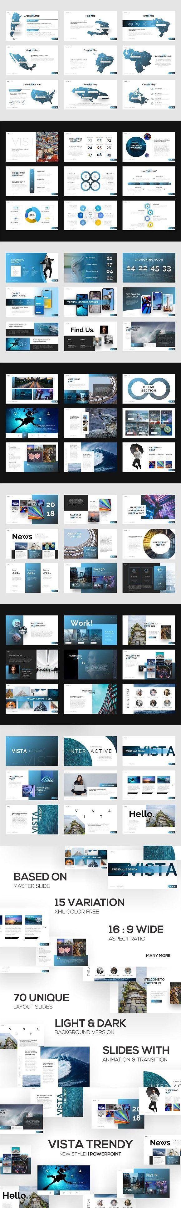 vista trendy powerpoint template presentation templates