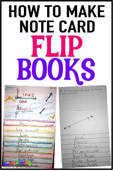 How to use notecards to create flip books with space to write and