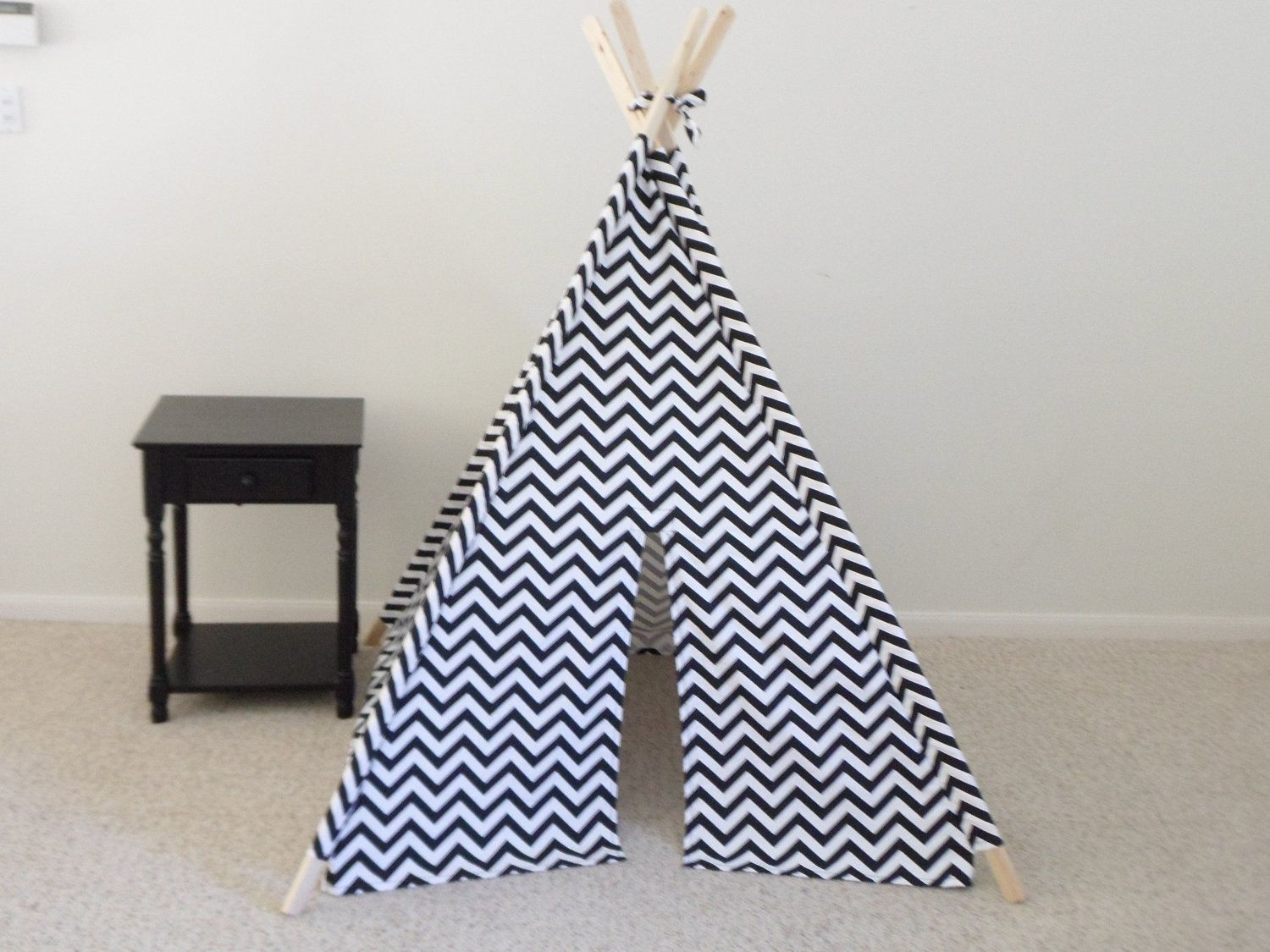 new product 1ea4f b095d Black and White Chevron Teepee or Pick your fabric color ...
