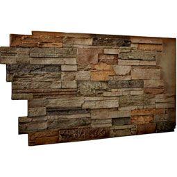 48 Inch W X 25 Inch H X 1 1 2 Inch D Dry Stack Endurathane Faux Stone Siding Panel Terrastone In 2020 Stone Siding Panels Faux Stone Panels Stacked Stone Walls