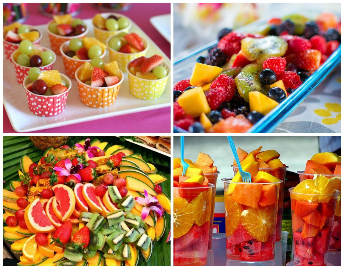 Frutas de festa infantil em cardapio natural party for Utensilios para servir comida