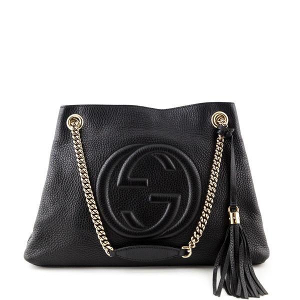 6490aac46c2 Gucci Black Medium Soho Shoulder bag - LOVE that BAG - Preowned Authentic  Designer Handbags