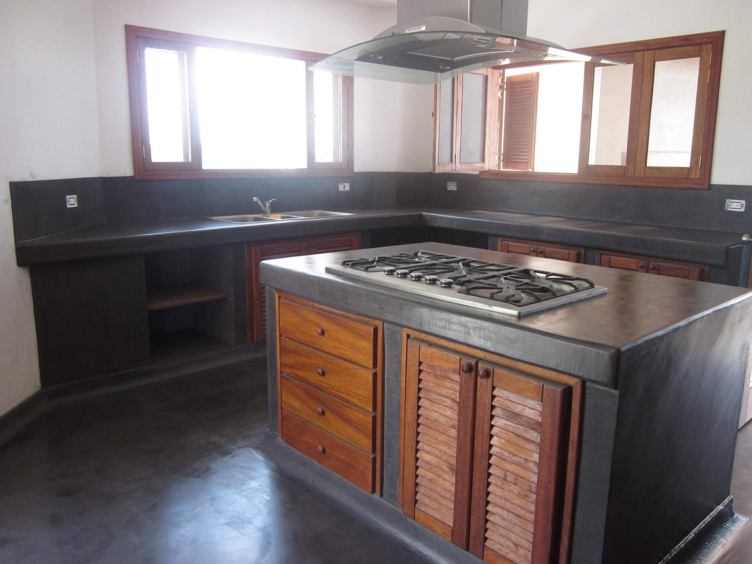 Decoracion Mueble Sofa Microcemento En Paredes De Cocina Cocina  # Muebles Bailon Peligros