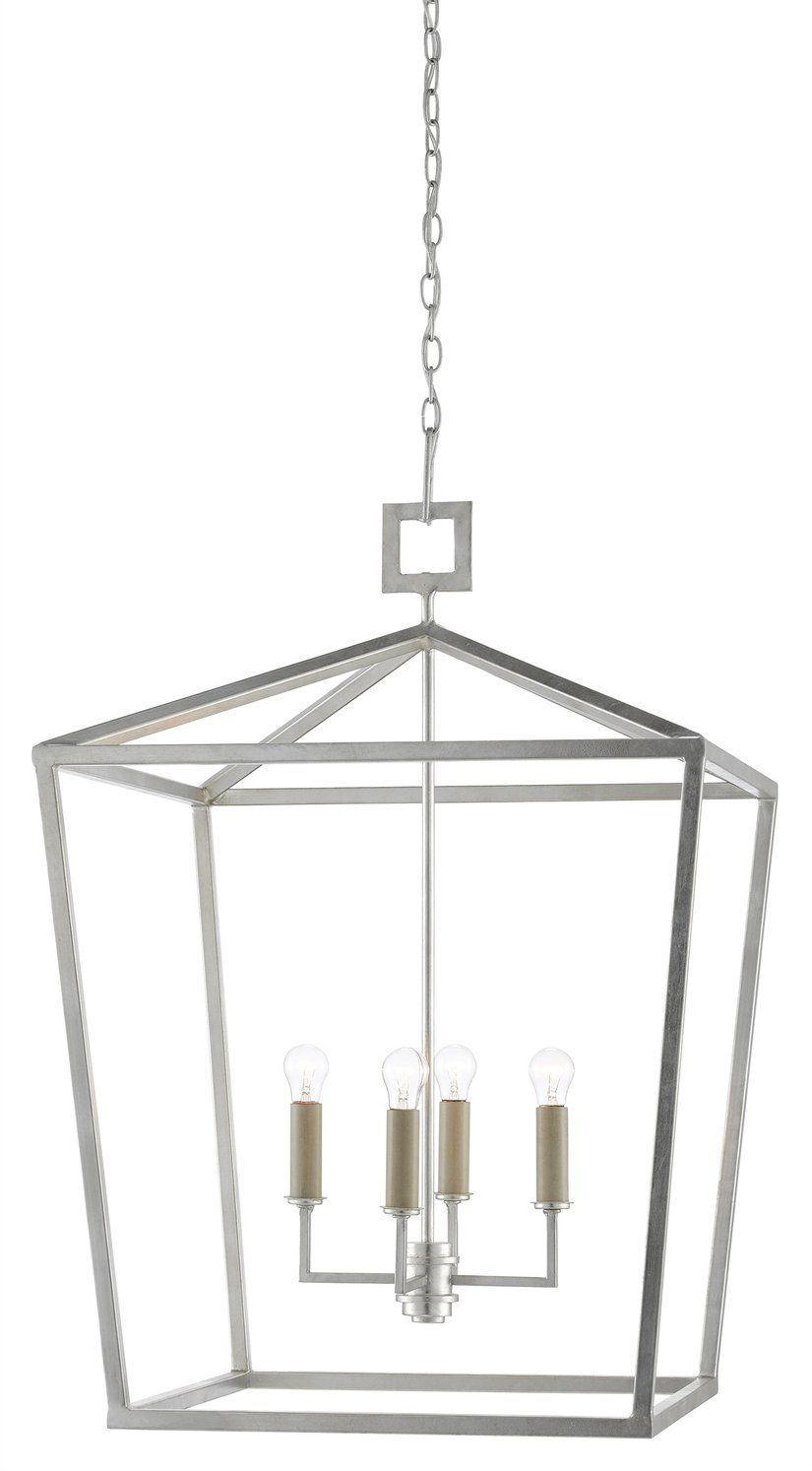 Denison Lantern Silver 4 Sizes Silver Lanterns Hanging Light Fixtures Silver Hanging Light