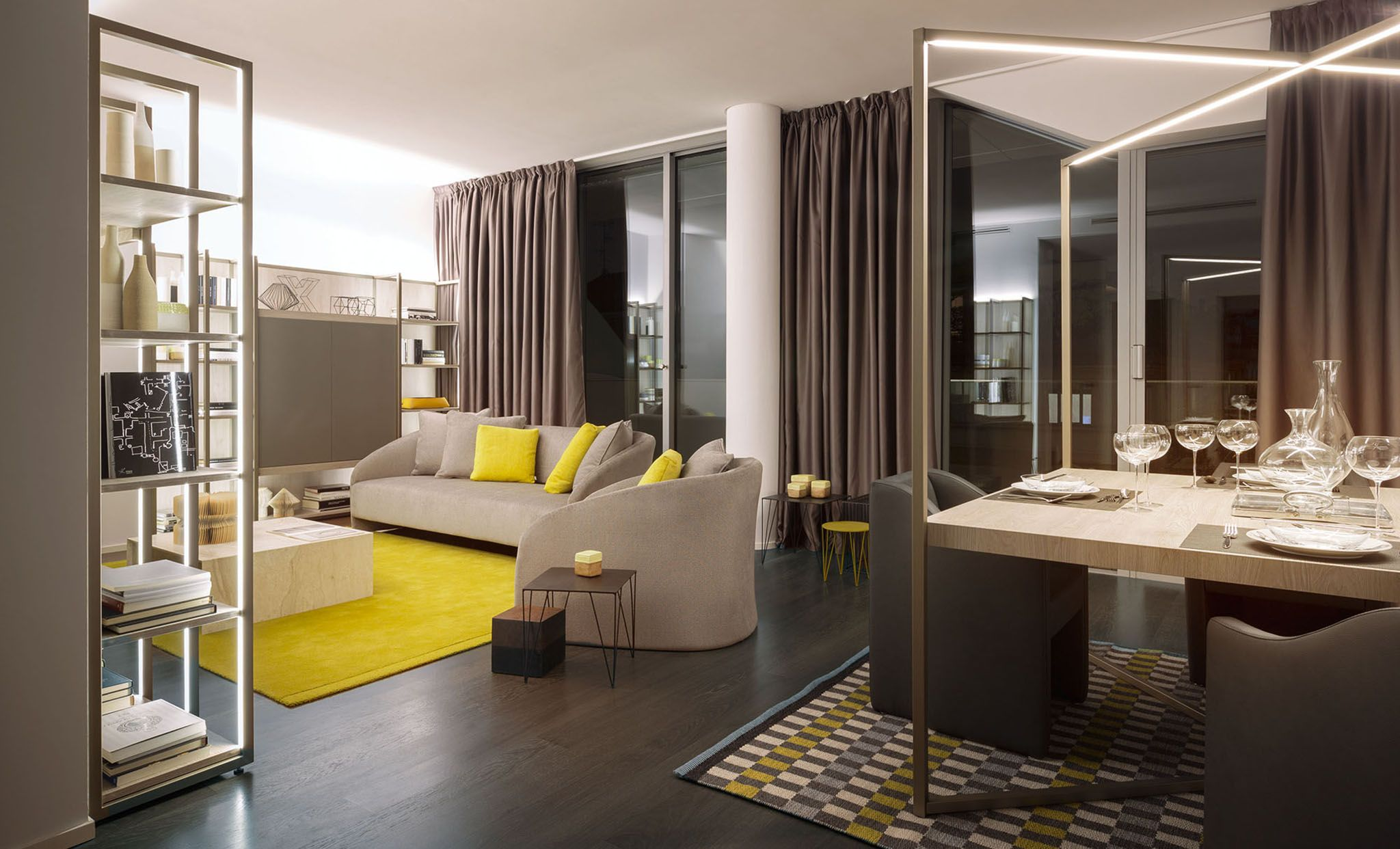 The first apartments, free from lamps, chandeliers and