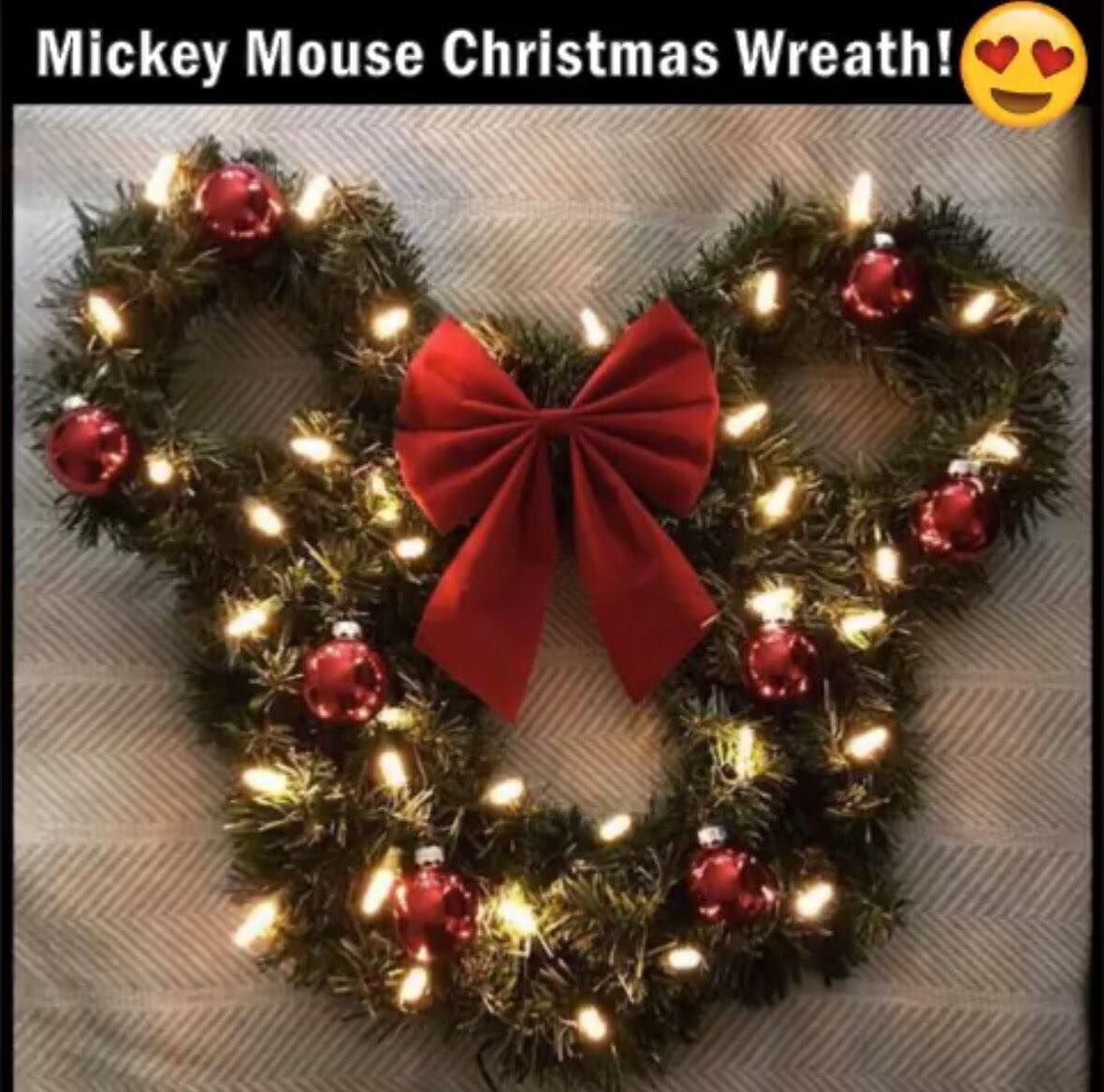 mickey mouse wreath with