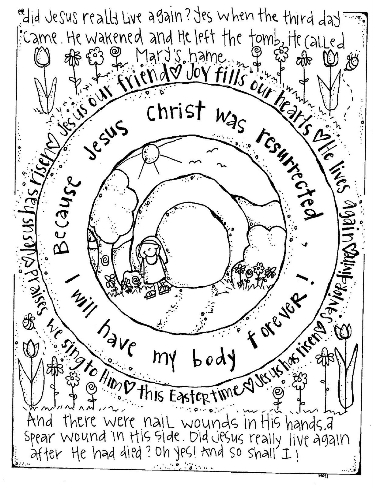 easter live forever with jesus coloring page pre k sunday