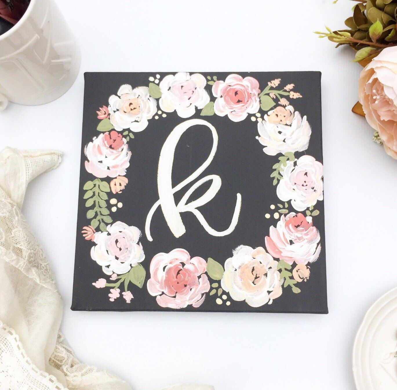 Diy Baby Nursery Floral Wall Decor: Personalized Home Decor / Nursery Decor / Florals / Floral