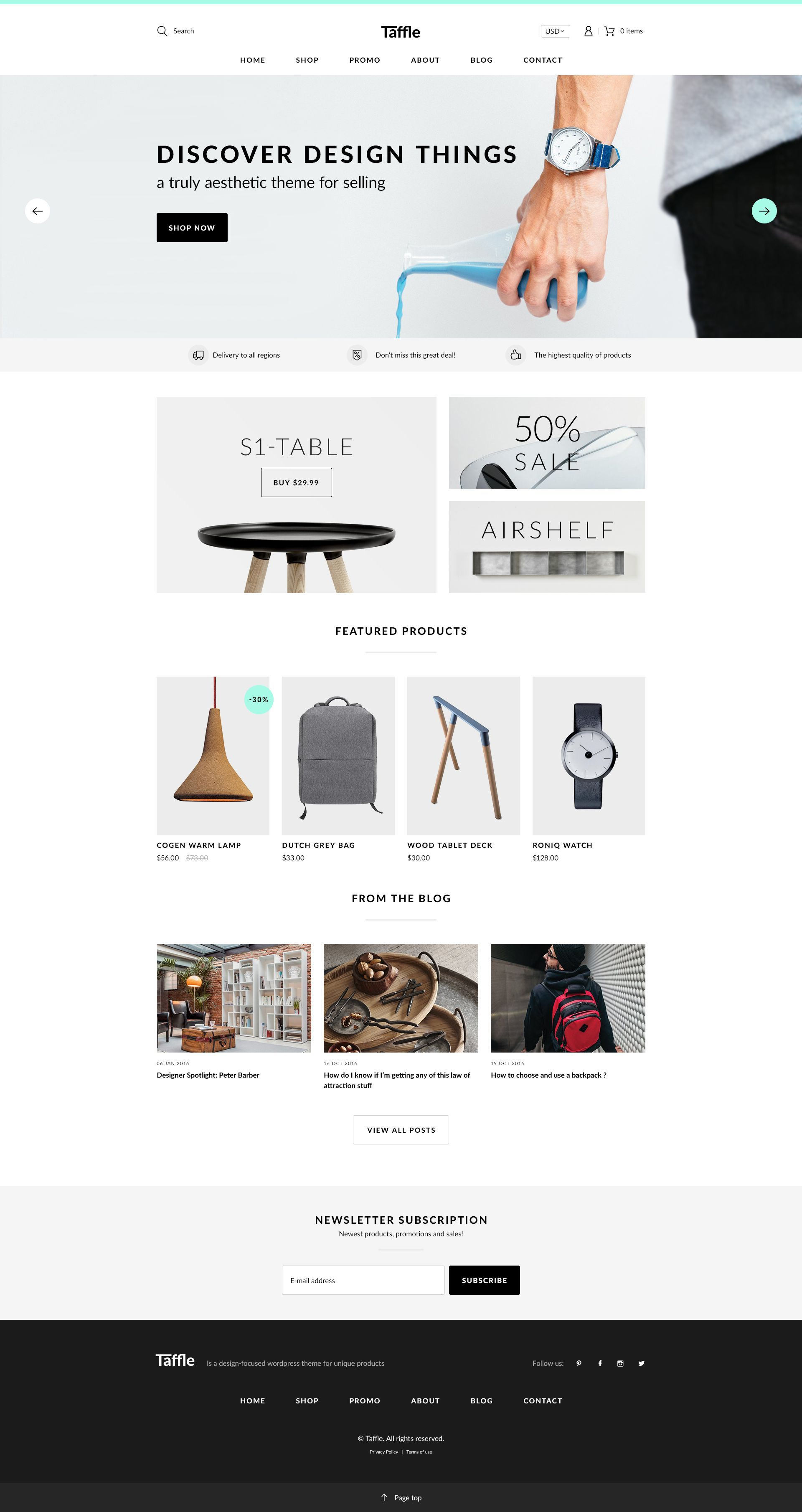 Taffle Modern and Clean Shop PSD Template. This #PSD #Template have an awesome #design for website of Shop, Personal Selling, Fashion, Blog, Creative Corporate, Community and other.