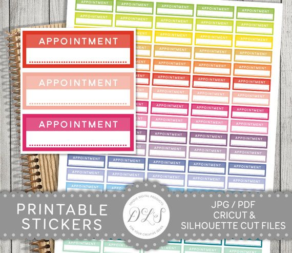 Appointment Stickers Appointment Planner Stickers Appointment