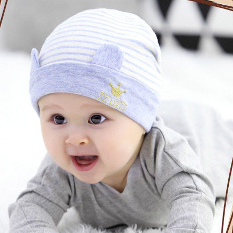 Unisex Soft Baby Infant Child Striped Hat With Bow Cap Newborn Beanie Hat CH