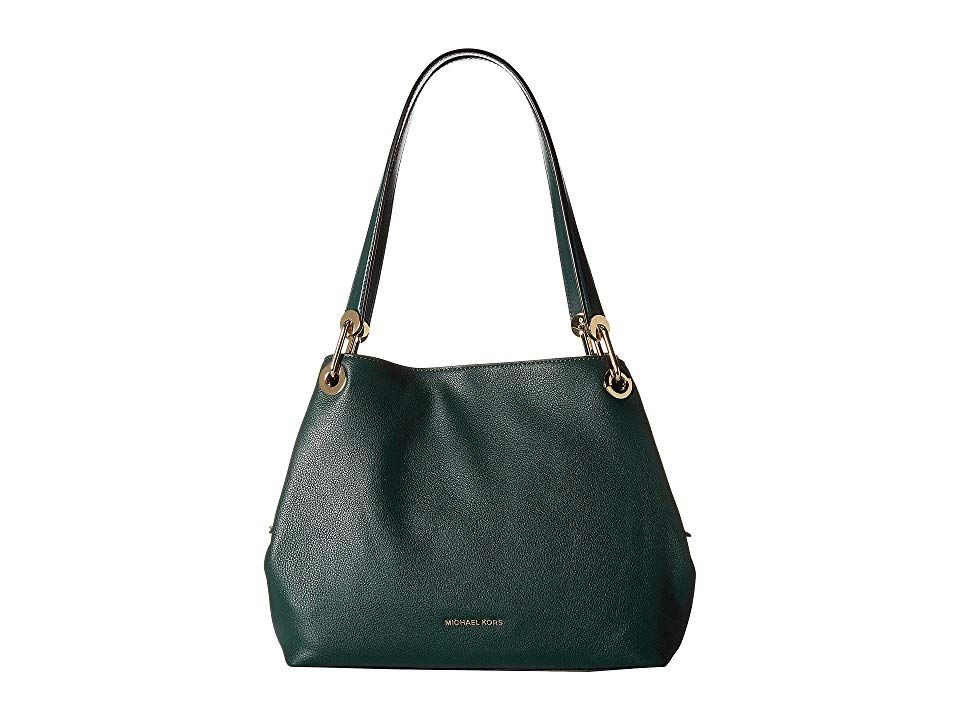 45894a3617a3 MICHAEL Michael Kors Raven Large Shoulder Tote (Racing Green) Tote Handbags.  The Raven