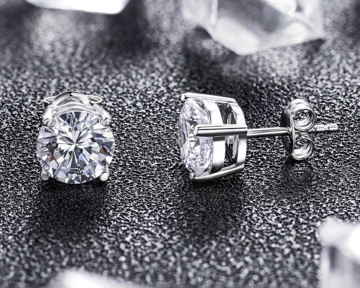 How To Tell If A Diamond Earring Is Real Answered Real Diamond Earrings Fake Diamond Diamond Studs