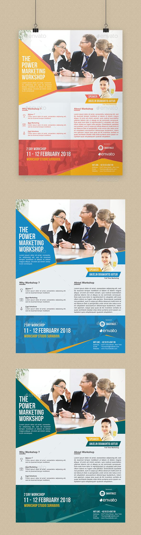 Marketing Workshop Flyer by Zeinoel SpesifikasiPSDA4 Format (21×29 ...